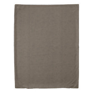 Coffee Brown Color Walnut Velvet Leather Look Duvet Cover