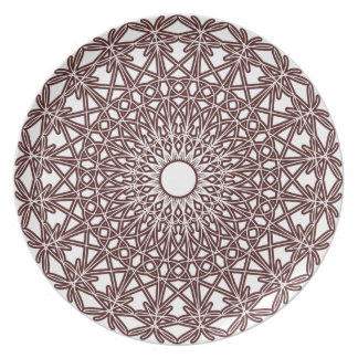 Coffee Brown Crocheted Lace Plate