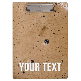 Coffee Bubbles Create Your Own Clipboard