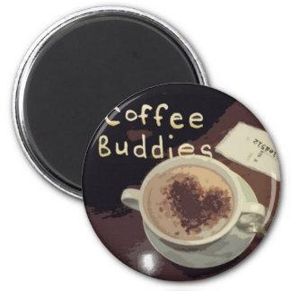 coffee buddies 2 inch round magnet
