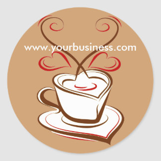 Coffee business advertising promotional stickers