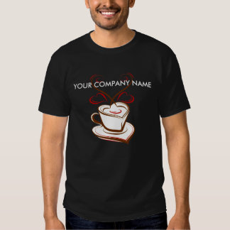 Coffee business advertising promotional t-shirt
