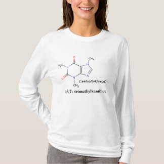 Coffee, C8H10N4O2H2O, 1,3,7- trimethylxanthine T-Shirt