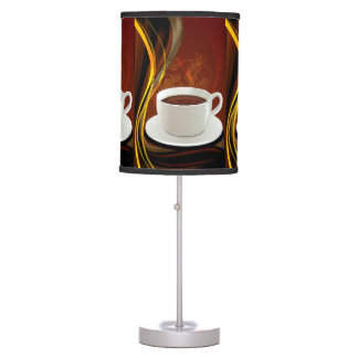 Coffee Cafe Art Table Lamps