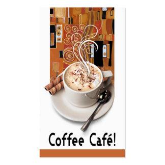 """""""Coffee Café"""" Gourmet Coffee, Capuccino, Espresso Business Cards"""