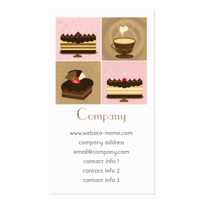 Coffee & Cakes Business Card