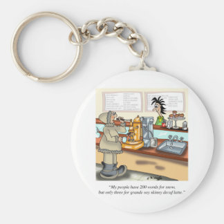Coffee Cartoon 9391 Basic Round Button Keychain
