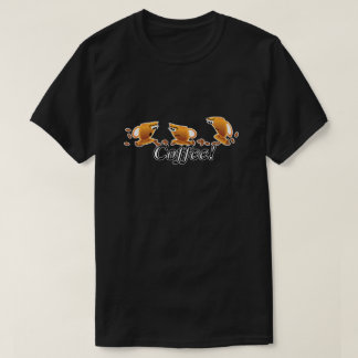 Coffee Cartoon Cups and Beans T-Shirt