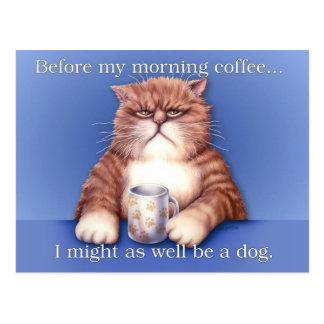 Coffee Cat Postcard