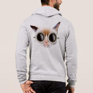Coffee Cat Zip Hoodie