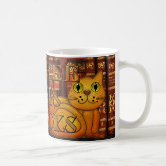 Coffee Cats and Books Bookworm Cat Lover Mug