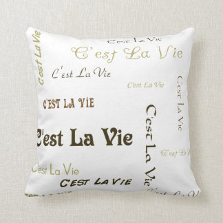 Coffee C'est La Vie Throw Pillow