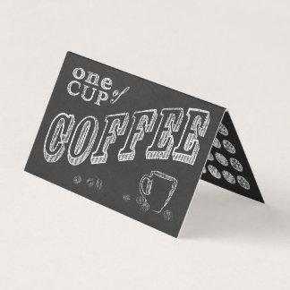 coffee chalkboard folded loyalty stamp card