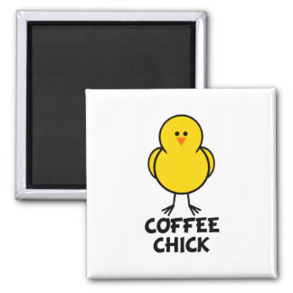 Coffee Chick Square Magnet