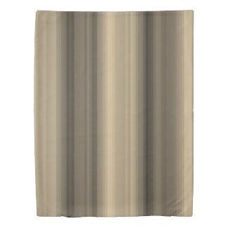 Coffee Chocolate Brown Stripe Line Tabby Pattern Duvet Cover