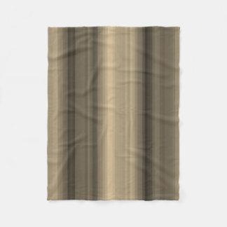 Coffee Chocolate Brown Stripe Line Tabby Pattern Fleece Blanket