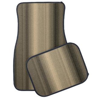 Coffee Chocolate Brown Stripe Line Tabby Pattern Floor Mat