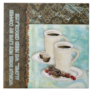 Coffee & Chocolate Java Kitchen Art Dessert Candy Tile