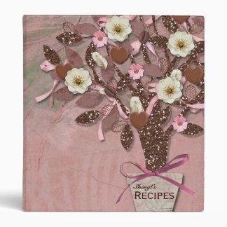 Coffee Chocolate Pink Brown Recipe Binders