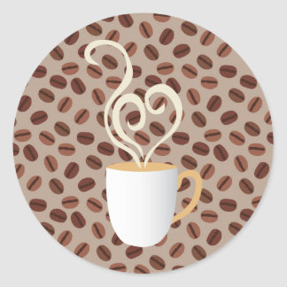 Coffee Classic Round Sticker