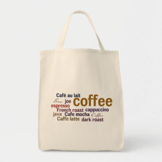 Coffee Cloud shopping tote Grocery Tote Bag