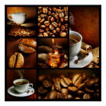 Coffee Collage 2 Poster