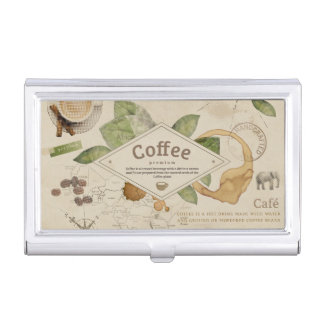 Coffee Collage Business Card Holder