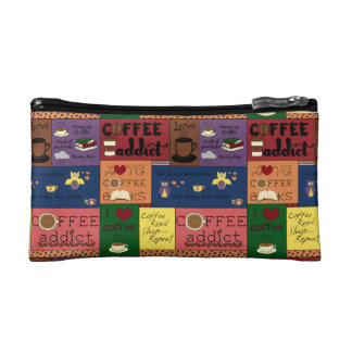 Coffee Collage Cosmetic Bags
