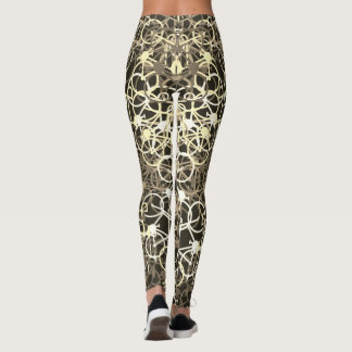 Coffee Color Bicycles Pattern - Cyclist's Leggings