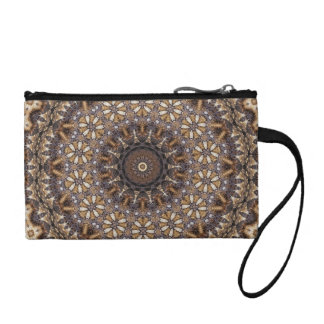 Coffee Color Brown Kaleidoscope Abstract Coin Purse