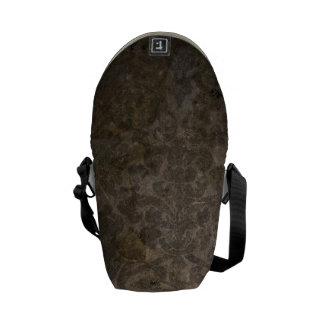 coffee colored pattern grunge courier bag