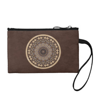 Coffee Colors Abstract Mandala Coin Wallet