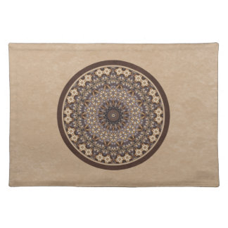 Coffee Colors Abstract Mandala Placemat