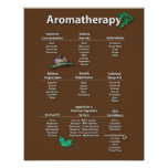 Coffee Coloured Aromatherapy Chart Poster