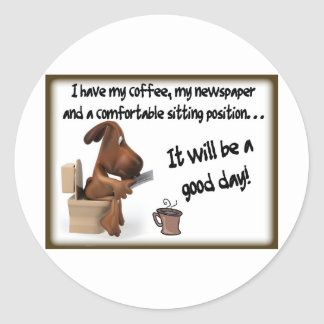 Coffee Comfort Classic Round Sticker