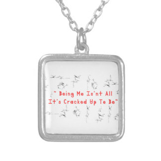 Coffee crack 2 silver plated necklace