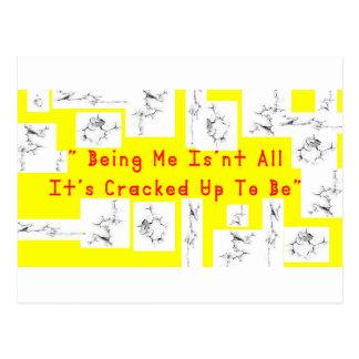 Coffee crack postcard