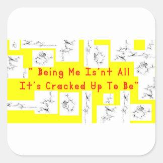 Coffee crack square sticker