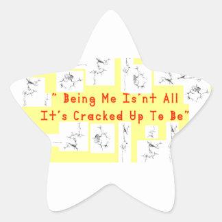 Coffee crack star sticker