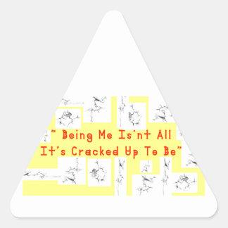 Coffee crack triangle sticker