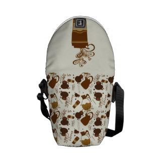 Coffee Craze Messenger Bags