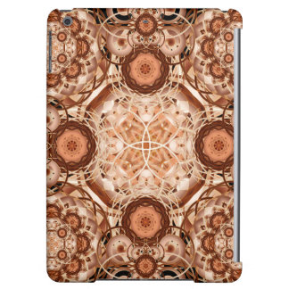 Coffee & Cream Mandala Cover For iPad Air