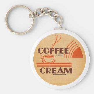Coffee Cream Retro Dairy Milk Bottle Cap Basic Round Button Keychain