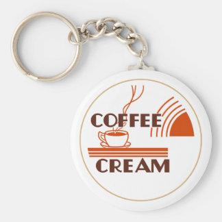 Coffee Cream Retro Dairy Milk Bottle Cap Design Basic Round Button Keychain