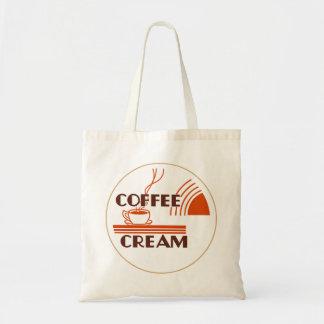 Coffee Cream Retro Dairy Milk Bottle Cap Design Tote Bag