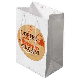 Coffee Cream Retro Dairy Milk Bottle Cap Medium Gift Bag
