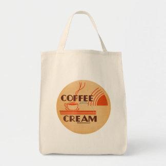 Coffee Cream Retro Dairy Milk Bottle Cap Tote Bag