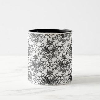 Coffee & Crossbones Two-Tone Coffee Mug