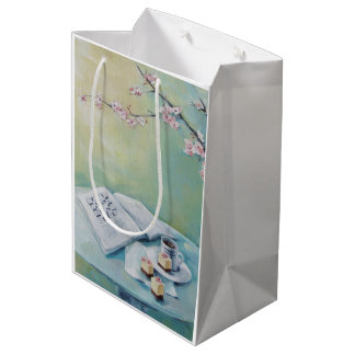 Coffee, Crossword & Cherry Blossom Medium Gift Bag