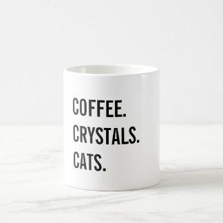 Coffee, Crystals, Cats Coffee Mug